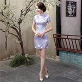 Mini Cheongsam Dress Size S-6XL 030219