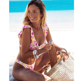 Stylish Colorful Floral Bikini Set 230519