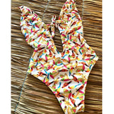 Colorful Floral Stylish Swimsuit 240519