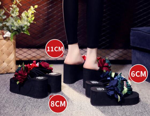 Colorful Flower High Heel Sandel Shoe 160619