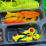 Worm Silicone Fishing Lures Set 140919