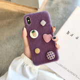 iPhone Love Love Fabric Phone Case 220619
