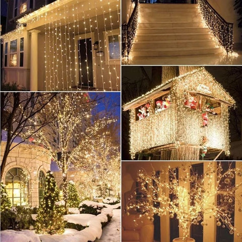 300 Led Window Curtain String Light Wedding Party Home Garden