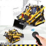 Construction Tractor RC Blocks Bricks Model 051019