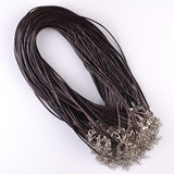 Leather String Cords with hooks (10 Pcs)