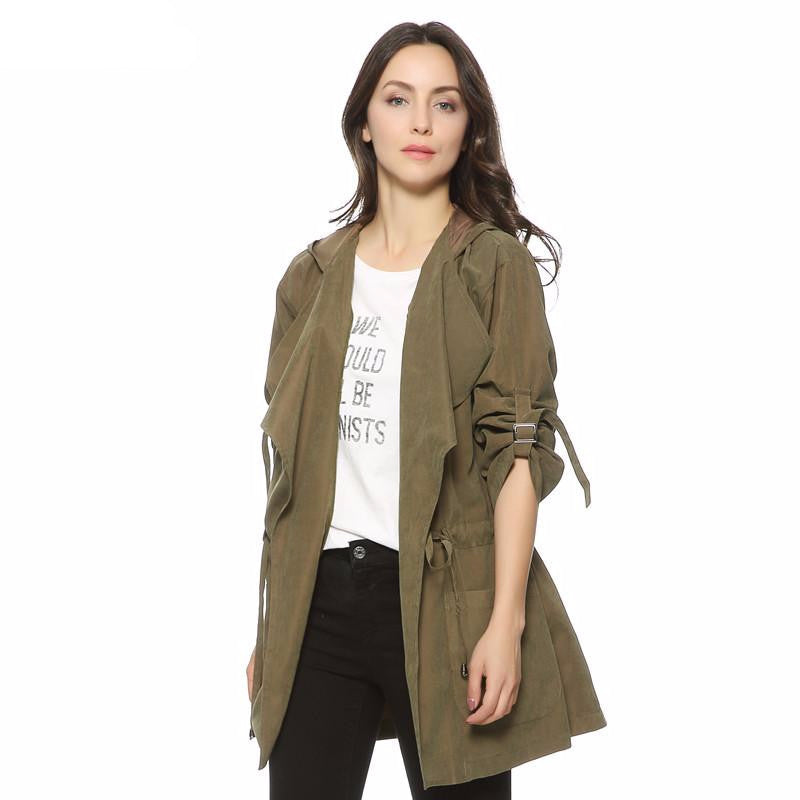 Casual Olive Trench