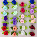 Satin Ribbon Roses (100 Pcs)