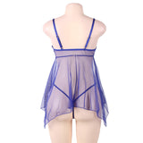 Plus Size Sleepwear Lingerie Set 231118