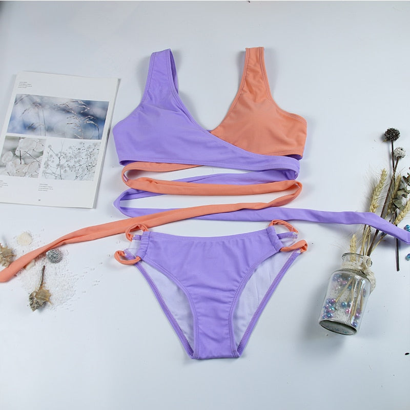 Neon Colourful Stylish Bikini Set