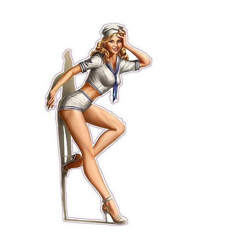 Sailor Pin Up Girl Sticker 220519
