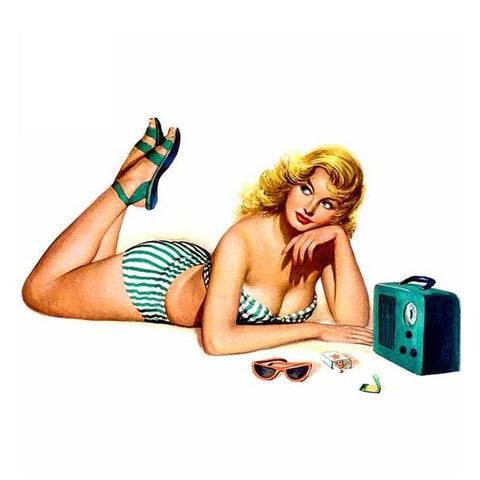 Pin Up Bikini Girl Sticker 220519