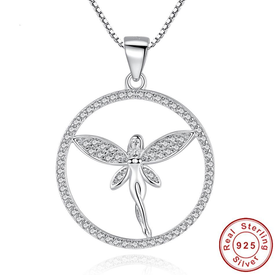 925 Silver Angel Pendant Necklace