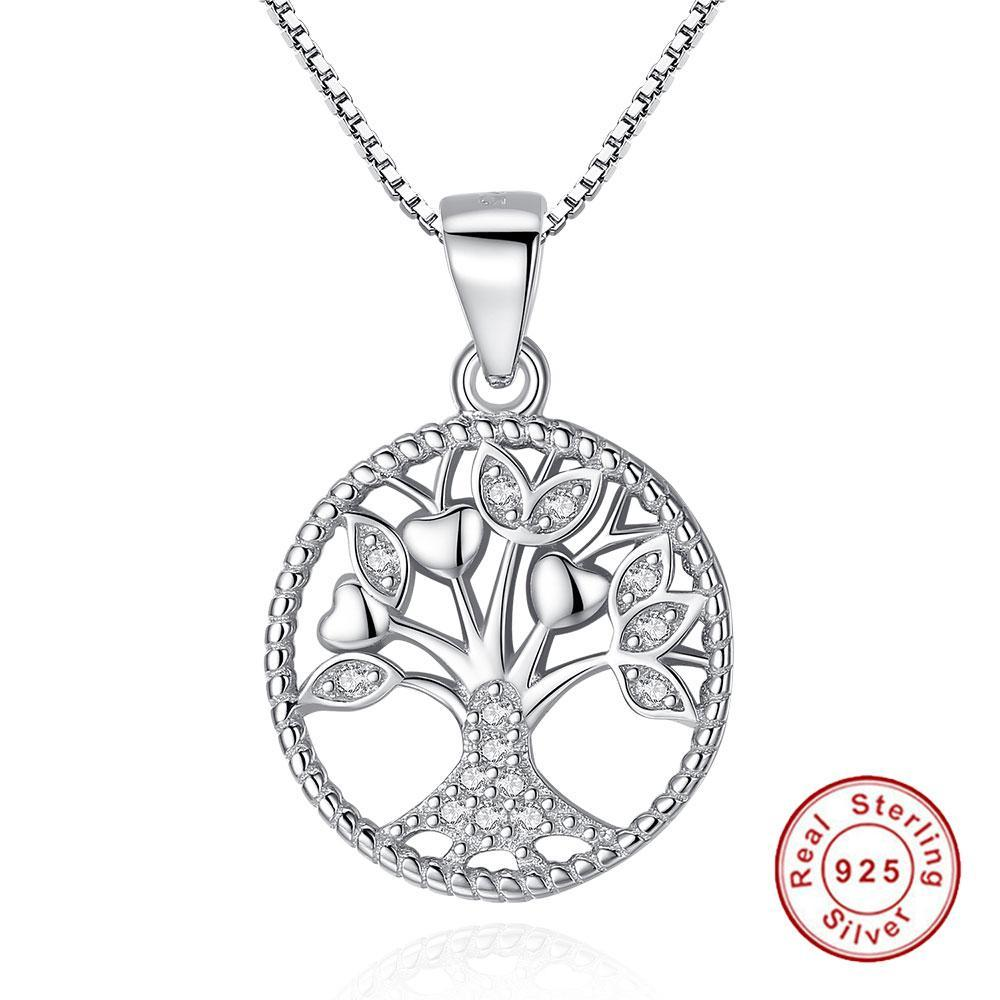Silver 925 Tree of Life Pendant Necklaces