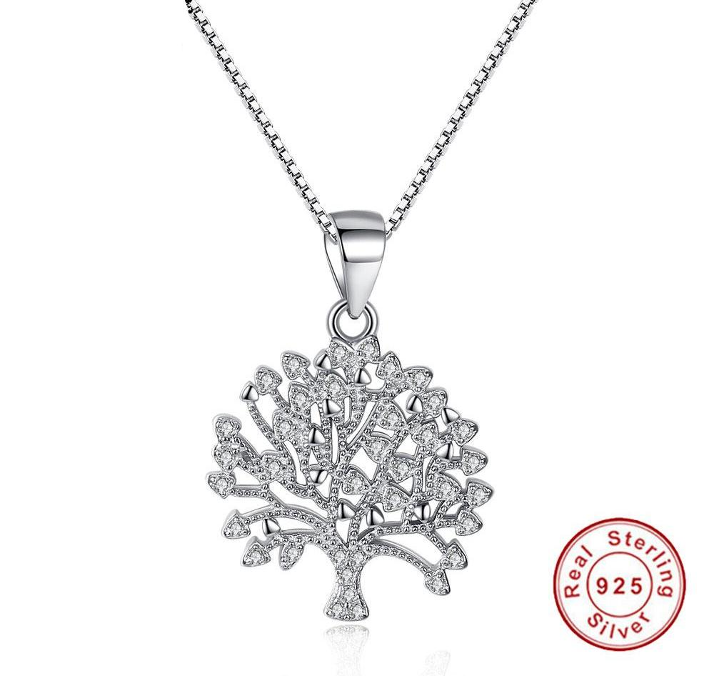 Silver 925 Tree of Life Pendant Necklaces 090718