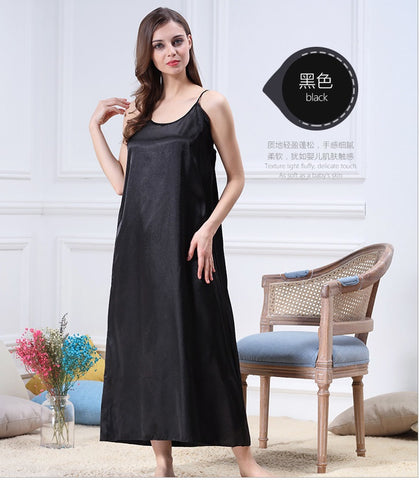 Luxury Long Silk Satin Sleepwear
