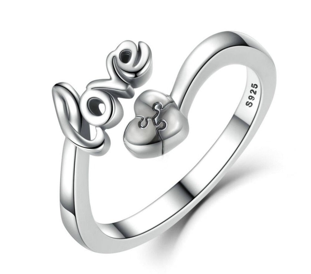 Love Silver 925 Sterling Rings 010619