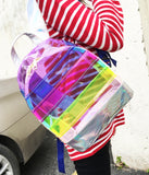 Colorful Transparent Backpack 061118