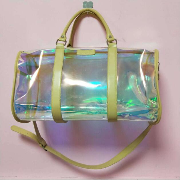 SOld Out The clear tote bag with zipper closure is perfect for work, sports games.Cross-Body Messenger Shoulder Bag w Adjustable Strap