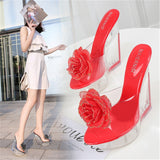 Beautiful Floral High Heel Sandal 070919