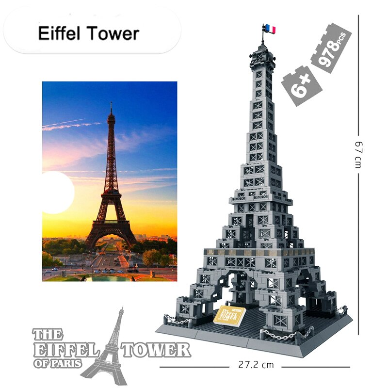 France Eiffel Tower Architecture Building Blocks 051019