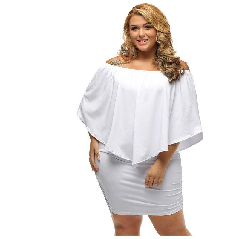 Off Shoulder Dresses Plus Size