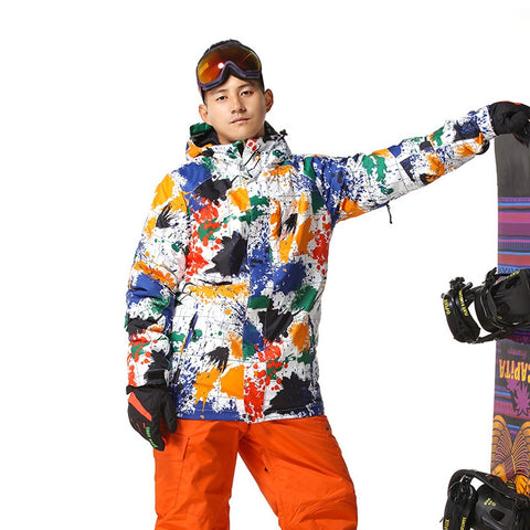 Holiday Creative Coloful Men Snow Coat 090219
