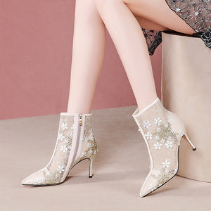 Lace Genuine Leather Boots