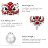 Stylish Lion Dance 925 Sterling Silver Earring