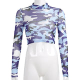 Stylish Camo Top Streetwear  210219