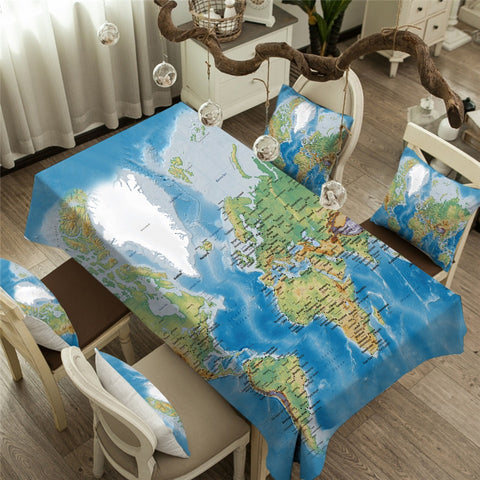 World Map Table Cover 261218