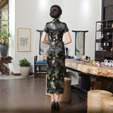 Flower Cheongsam Long Dress 030219