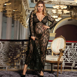 Long Lace Sleepwear 251118