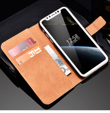 iPhone X Luxury Leather Case