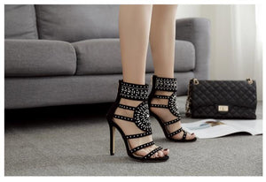 Rhinestone High Heel