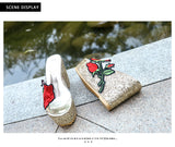 Stylish FLower High Sandal 160619
