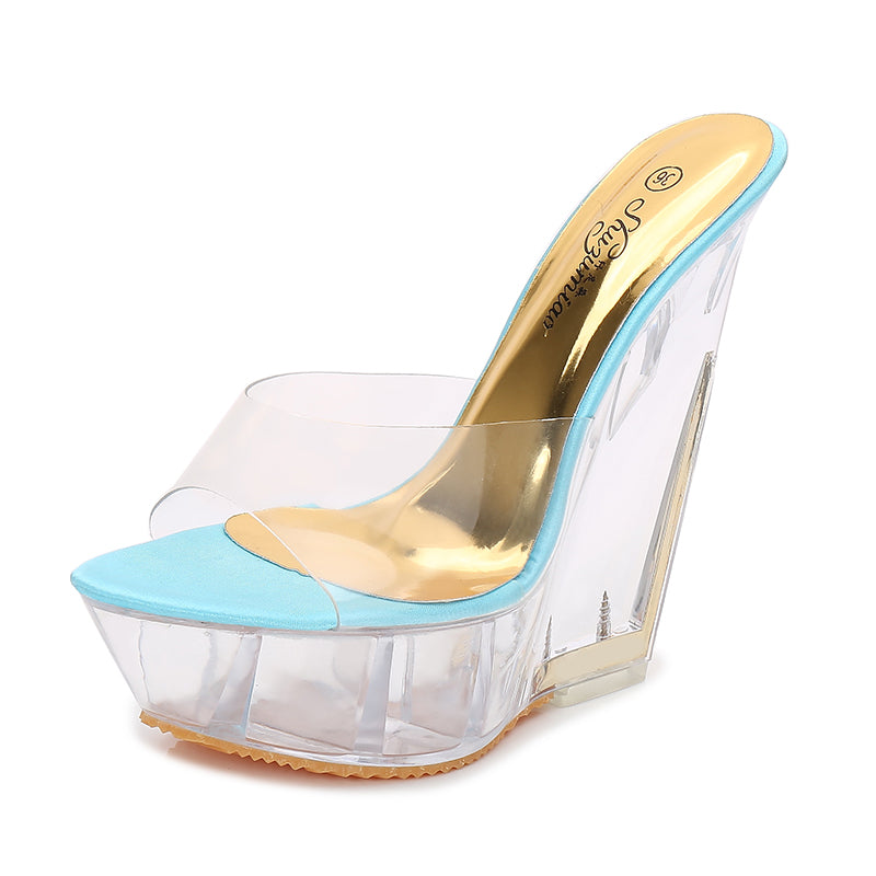 Stylish Transparent High Heel Shoes 070919