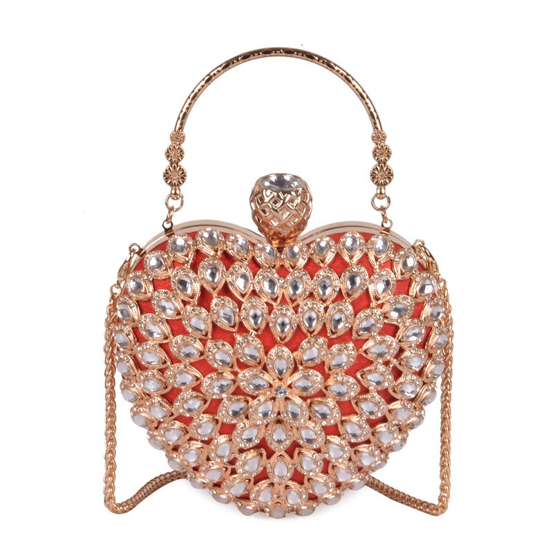 Love Shape Rhinestone  Handbag 011219