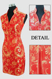 Size S-3XL V-Neck Cheongsam Dress 030219