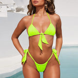 Neon High Waist Bikini Set 200619