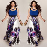 Plus Size Floral Printed Maxi Dress 301218