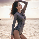 Simple Classic Surfing Rash Guard Swumsuit 010619