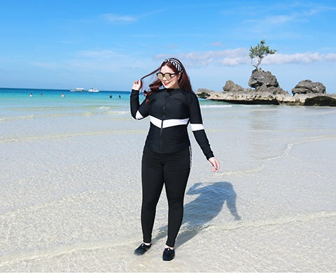 Plus Size Rash Guard Swimsuit 010619