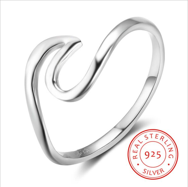 Silver Sterling Wave Ring 010619