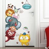 Children Happy Animal Wall Sticker 250619