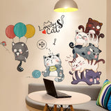 Happy Lovely Cat Wall Sticker 260619