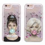 Funny Audrey + Marilyn Liquid iPhone Series Casing 080919