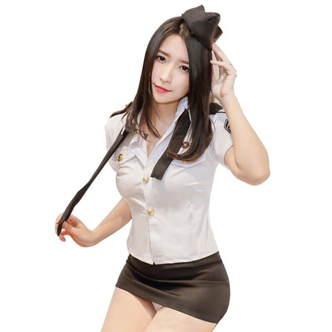 Uniform Cosplay Lingerie Set 151218