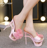 Stylish Floral High Heel Shoes 070919