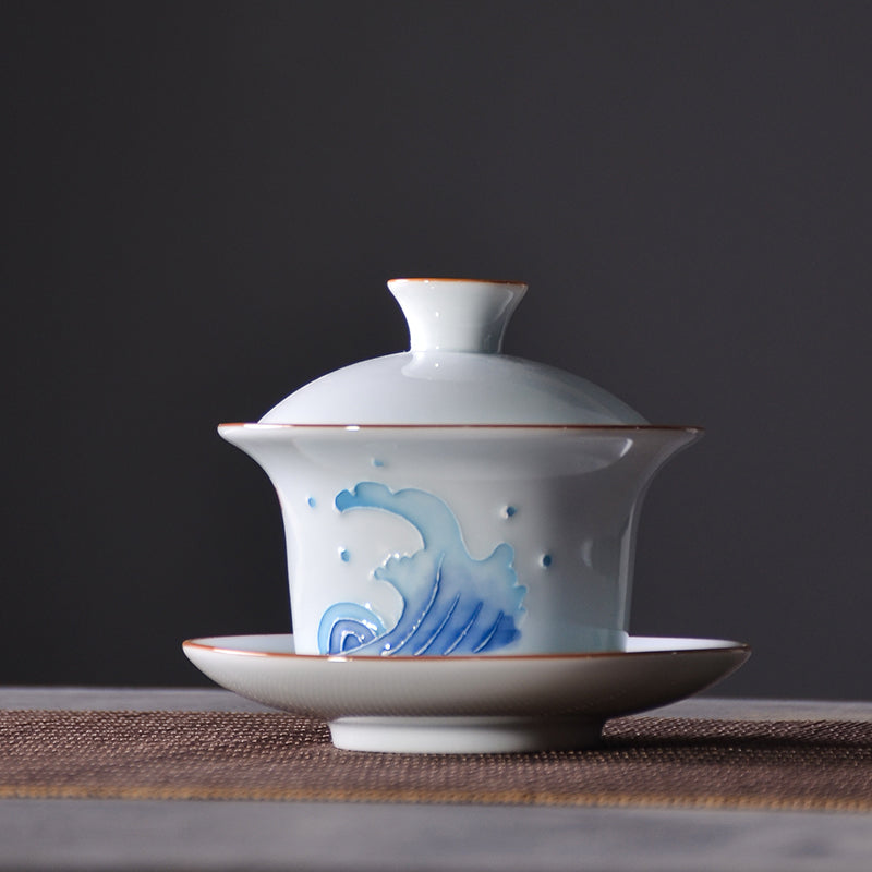 Chinese Traditional Gaiwan Teacup Set 071219