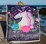 Lovely Colorful Unicorn Blanket 251218